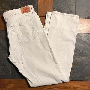 Levi's 505 straight light tan waist 29